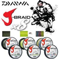 "Леска плетеная DAIWA ""J-BRAID GRAND X8"" 0.16MM-135M GRAY-LIGHT"