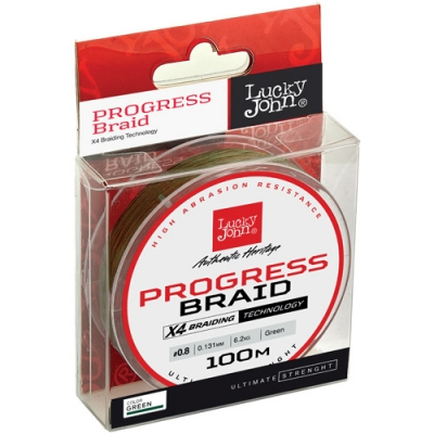Леска плет. Lucky John Progress BRAID Green 100/240