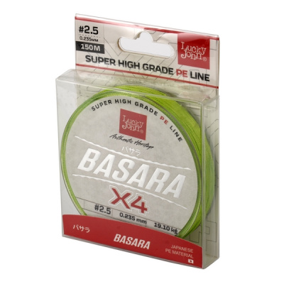 Леска плет. Lucky John Basara Light Green 125/015 фото в интернет-магазине SibActive